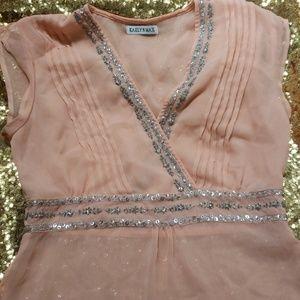 Tops - Chiffon peach blouse